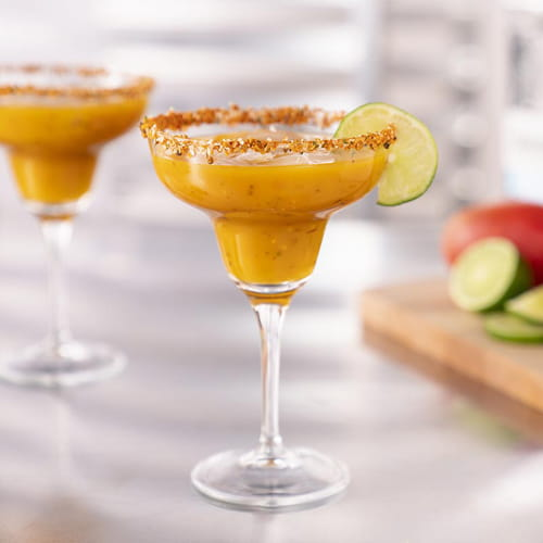 Grilled Mango Margarita with Fiery Habanero and Roasted Garlic