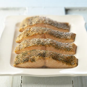 Old Bay Crusted Salmon
