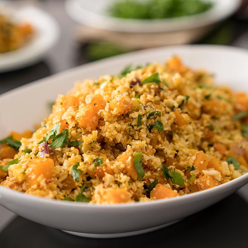 Brazilian Cauliflower Rice and Butternut Squash