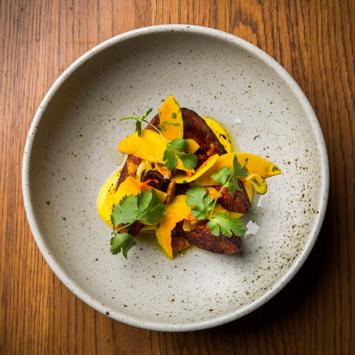 Tandoori Masala Roasted Squash with Yogurt, Seeds & Coriander