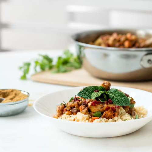 Moroccan Tagine with Root Vegetables and Chickpeas