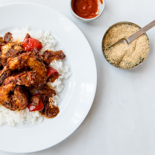 Mozambique Chicken and Shrimp Curry