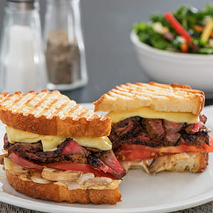 Grilled Steak and Cheese Panini