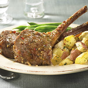 Mustard Crusted Lamb Chops