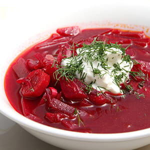 Chilled Honey Borscht Soup
