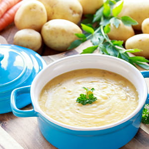 Cream of Potato and Roasted Garlic Soup