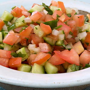 Cucumber Onion Tomato Salad