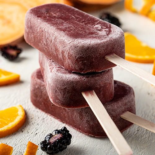 Blackberry Sweet Potato Ice Pops