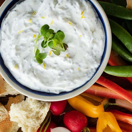 Citrus Herb & Basil Seed Yogurt Dip