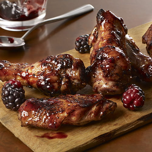 Blackberry and Black Pepper Grilled Wings
