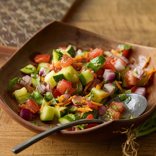 East African Fresh Tomato & Cucumber Salad
