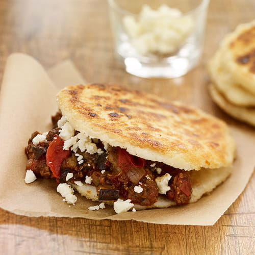 South American Arepas with Easy Greek Moussaka