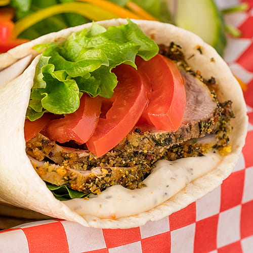 Caribbean Jerk Pork Wrap