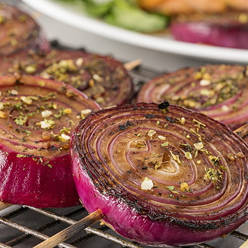 Grilled Balsamic Red Onion Lollypops