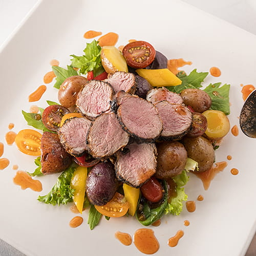 Honey and Chili Lamb with New Potatoes