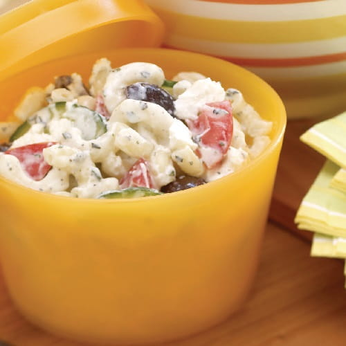 Creamy Greek Pasta Salad