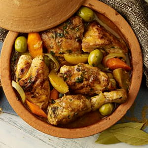 Spiced Chicken Tagine with Preserved Lemon and Olives