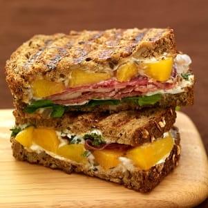 Peach and Prosciutto Panini with Thyme Aioli