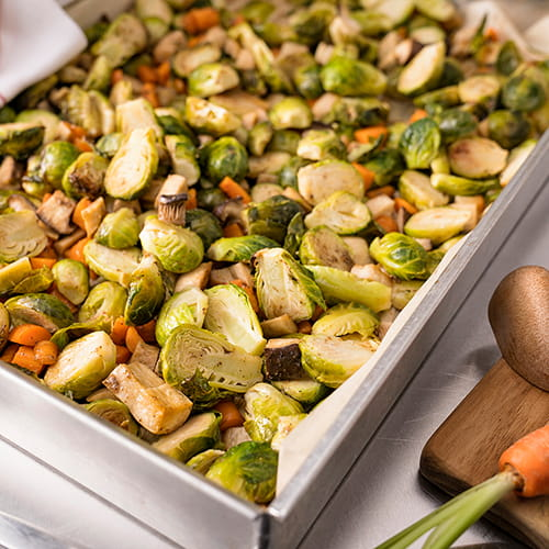 Roasted Brussels Sprout and Carrots with Garam Masala