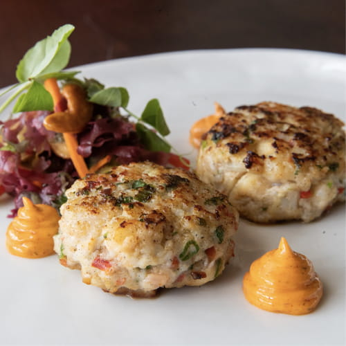 Spiced Scallop, Shrimp & Lobster Cake