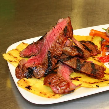 Sweet Smoky Pineapple Marinated Beef with Stir Fried Veggies