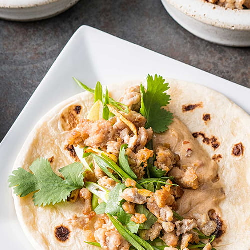 Thai Peanut Chicken Tortilla Wraps