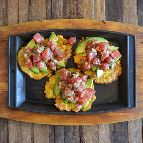 Tuna Poke with Tostones