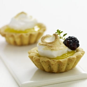 Ultimate Lemon Tarts with Limoncello Blackberries