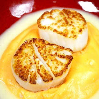Vanilla Butter Poached Scallops